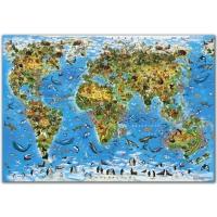 Мир животные и растения. Карта-пазл 260 деталей